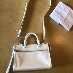 Rebecca Minkoff Micro Regan White Leather Satchel
